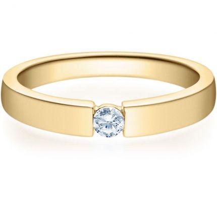 Verlobungsring 9918012 aus Gelbgold mit 0,10 ct Brillanten