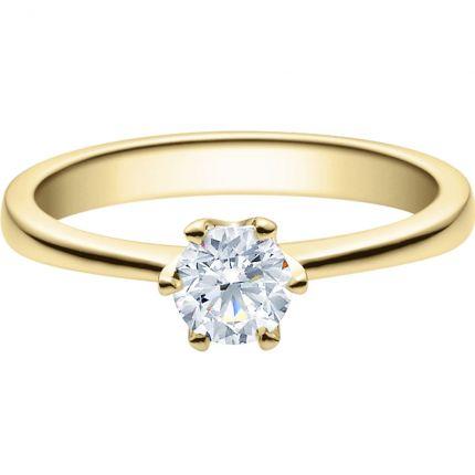 Verlobungsring 1918016 aus Gelbgold mit 0,5 ct GIA zertifizierten Brillanten