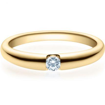 Verlobungsring 9918005 aus Gelbgold mit 0,10 ct Brillanten
