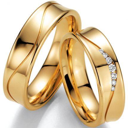 Ausgefallene Hochzeitsringe Gelbgold