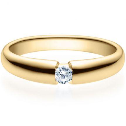 Verlobungsring 9918006 aus Gelbgold mit 0,10 ct Brillant