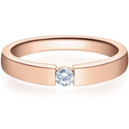 Verlobungsring 9918012 aus Rotgold mit 0,10 ct Brillanten