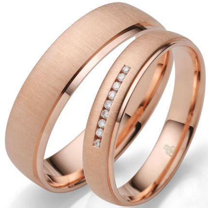 inspirierende Ringe aus Rotgold Quermatt