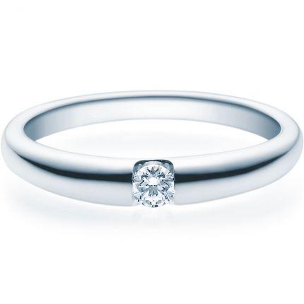 Verlobungsring 9918005 aus Platin 950 mit 0,10 ct Brillanten