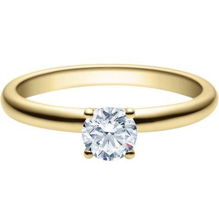 Verlobungsring 18018 aus Gelbgold mit 0,5 ct Brillant