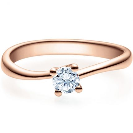 Verlobungsring 9918011 aus Rotgold mit 0,25 ct Brillant