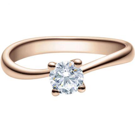Verlobungsring 9918011 aus Rotgold mit 0,5 ct Brillant