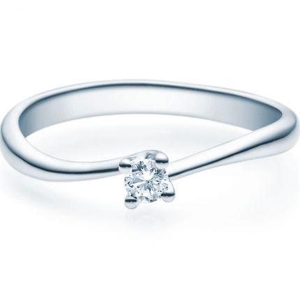 Verlobungsring 9918011 aus Weißgold mit 0,10 ct Brillant