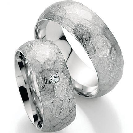 Trauringe aus 925er Silber mit Hammerschlag