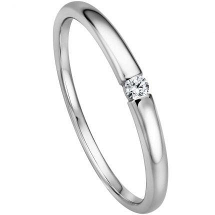 Verlobungsring in Spannringoptik aus 585 Weißgold
