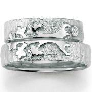Hochzeitsringe Baum des Lebens aus Silber