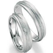 Trauringe mit Oberflächenstruktur aus Silber