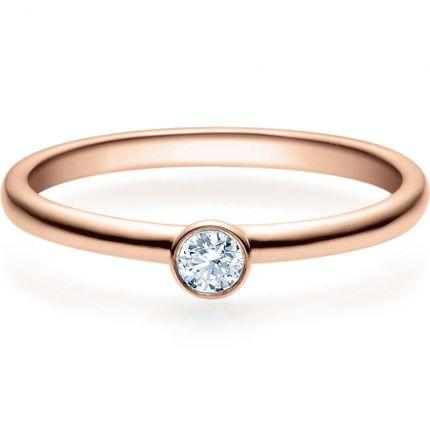 Verlobungsring 9918019 aus Rotgold mit 0,1 ct Brillanten