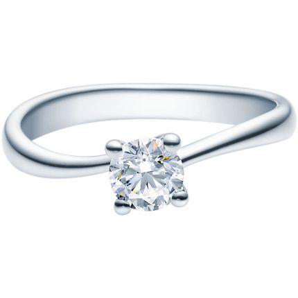 Verlobungsring 9918011 aus Weißgold mit 0,5 ct Brillant