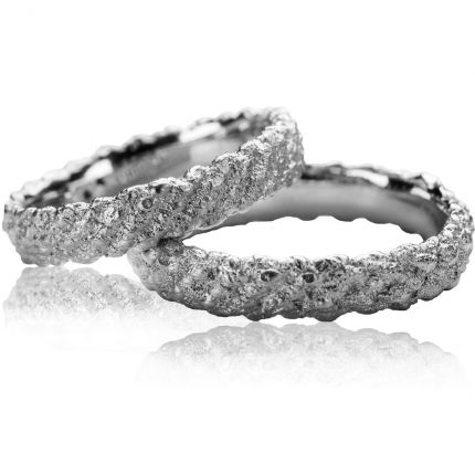 Ringpaar Traumgewebe von Claudia Schüller aus 925er Silber