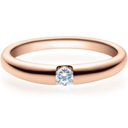 Verlobungsring 9918005 aus Rotgold mit 0,10 ct Brillanten