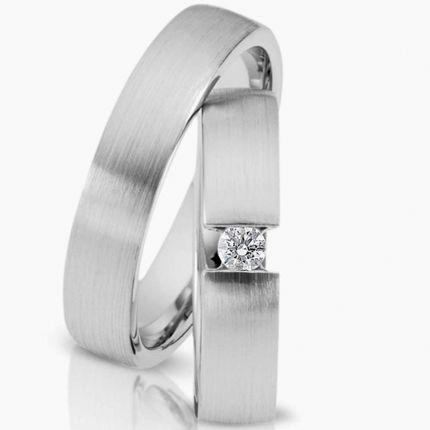 Ringpaar 99491 aus Silber mit Zirkonia in Spannringoptik
