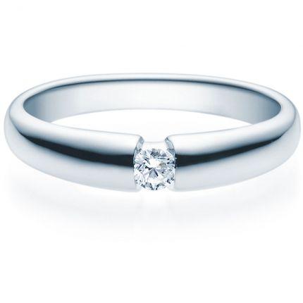 Verlobungsring 9918006 aus Weißgold mit 0,10 ct Brillant