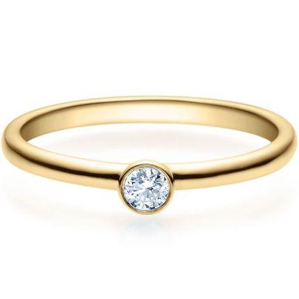Verlobungsring 9918019 aus Gelbgold mit 0,1 ct Brillanten