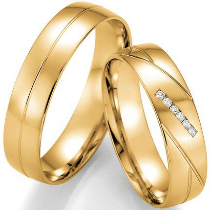 Zeitlose Hochzeitsringe aus Gelbgold