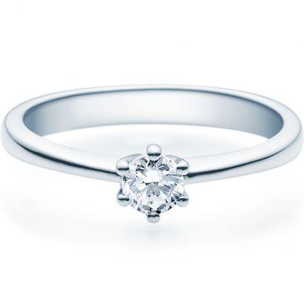 Verlobungsring 9918001 mit 0,25 ct Brillant aus Weißgold