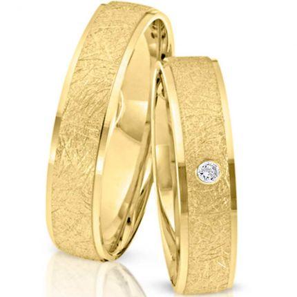 Ringpaar 992353 aus Gelbgold mit Brillant