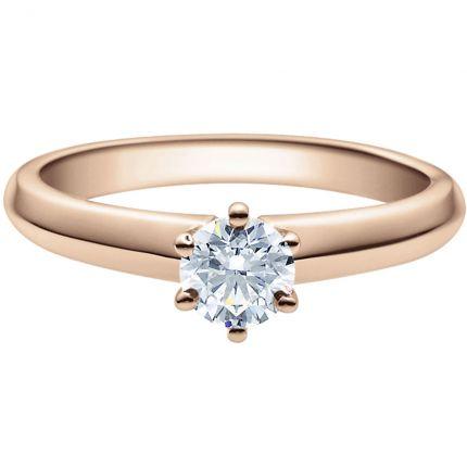 Verlobungsring 9918003 aus Rotgold mit 0,5 ct Brillant
