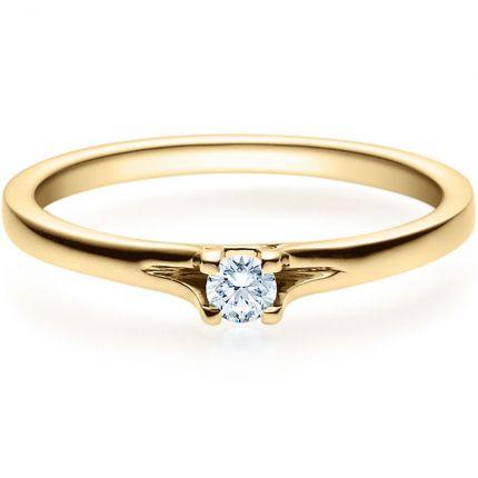 Verlobungsring 9918020 aus Gelbgold mit 0,10 ct Brillant