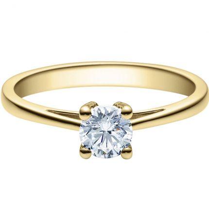 Verlobungsring 9918010 aus Gelbgold mit 0,5 Karat Brillanten