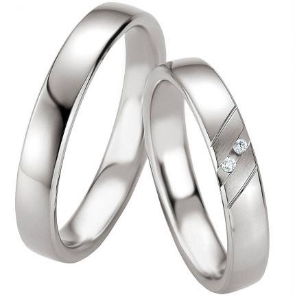 Schmale Eheringe aus Silber