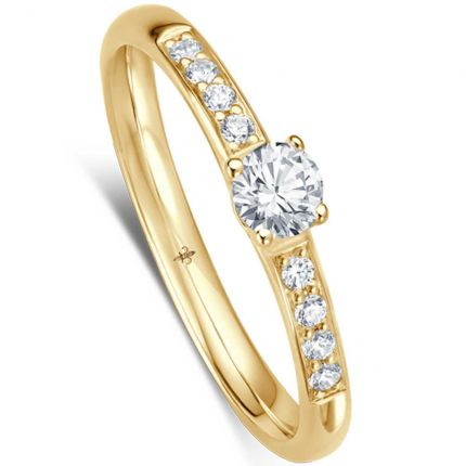 Eleganter Verlobungsring mit weißen Brillanten in edler Fassung (Weißgold)