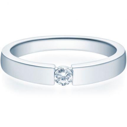 Verlobungsring 9918012 aus Silber mit 0,10 ct Brillanten