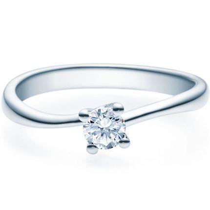 Verlobungsring 9918011 aus Weißgold mit 0,25 ct Brillant