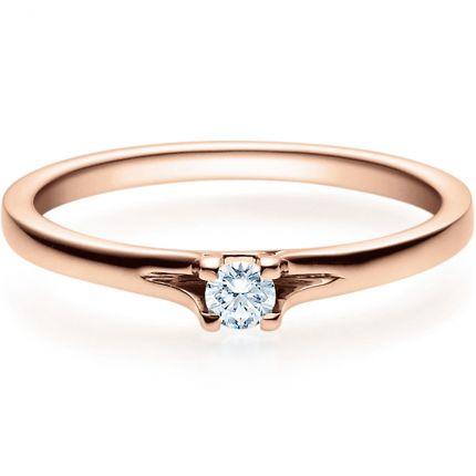 Verlobungsring 9918020 aus Rotgold mit 0,10 ct Brillant