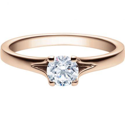 Verlobungsring 9918020 aus Rotgold mit 0,50 ct Brillanten