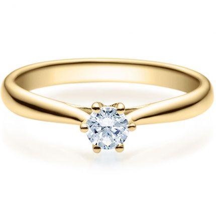 Verlobungsring 9918007 aus Gelbgold mit 0,25 ct Brillant