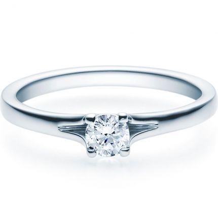 Verlobungsring 9918020 aus Weißgold mit 0,25 ct Brillant
