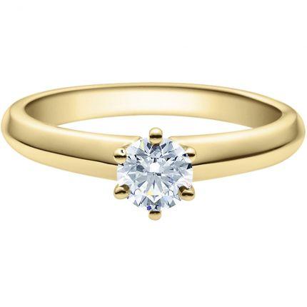Verlobungsring 9918003 aus Gelbgold mit 0,5 ct Brillant