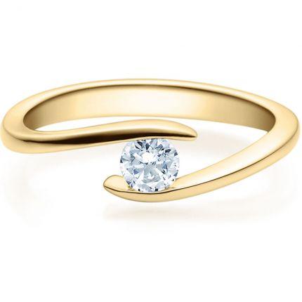 Verschlungener Verlobungsring 9918015 aus Gelbgold mit Brillant