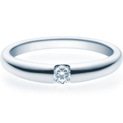 Verlobungsring 9918005 aus Weißgold mit 0,10 ct Brillanten